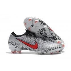 Nouvelle Chaussures de Football Nike Mercurial Vapor 12 Elite FG Blanc Rouge Noir