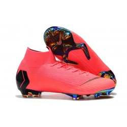 Nouvelles Chaussure Foot Nike Mercurial Superfly VI 360 Elite FG Rose
