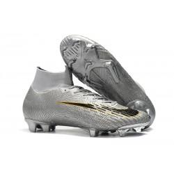 Nouvelles Chaussure Foot Nike Mercurial Superfly VI 360 Elite FG Argent Noir