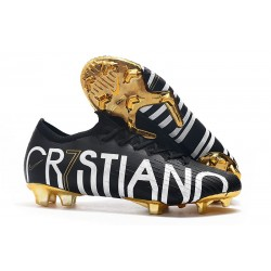Cristiano Ronaldo CR7 Nike Mercurial Vapor 12 Elite FG Noir Or