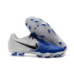 Nike Crampons Homme Phantom VNM Elite FG Blanc Bleu