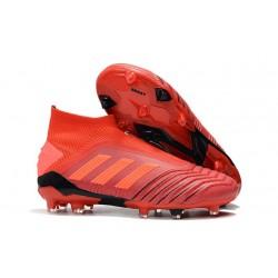 Crampons Nouveau Adidas Predator 19+ FG Rouge