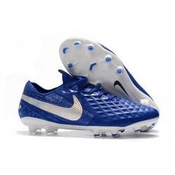 Chaussures de Foot Nike Tiempo Legend 8 Elite FG - Bleu Blanc