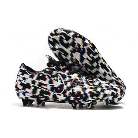 Chaussures de Foot Nike Tiempo Legend 8 Elite FG - Noir Blanc