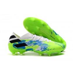 adidas Nemeziz 19.1 FG Chaussures - Vert Bleu Noir