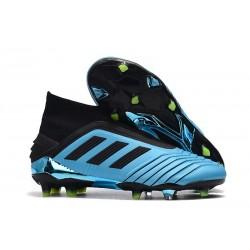 Adidas Predator 19+ FG Chaussure de Football Bleu Noir