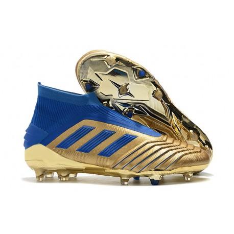 Crampons Adidas Predator 19+ FG Homme - Oro Bleu