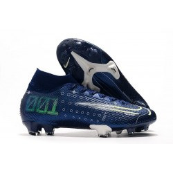 Nike Dream Speed Crampons Mercurial Superfly 7 Elite FG -Bleu