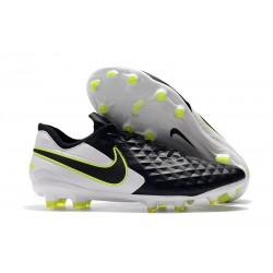 Chaussures de Foot Nike Tiempo Legend 8 Elite FG - Noir Blanc Volt