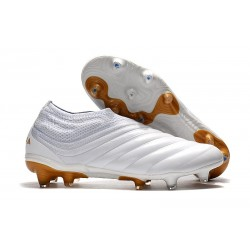 Chaussures Pour Homme Adidas Copa 19+ FG Blanc Or