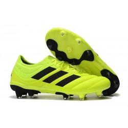 Neuf - Chaussures de Football Adidas Copa 19.1 FG Volt Noir