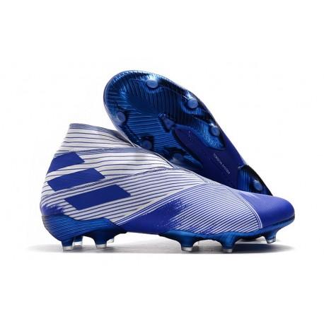Chaussure Nouvelle adidas Nemeziz 19+ FG Blanc Bleu