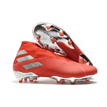 Chaussure Nouvelle adidas Nemeziz 19+ FG Rouge Argent
