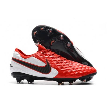 Chaussures de Foot Nike Tiempo Legend 8 Elite FG -Rouge Blanc Noir
