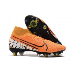 Nike Mercurial Superfly 7 Elite SG-PRO AC Orange Blanc Noir