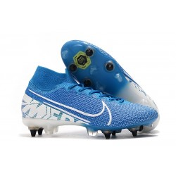 Nike Mercurial Superfly 7 Elite SG-PRO AC New Lights Bleu Blanc