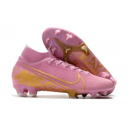 Chaussure Nike Mercurial Superfly VII Elite FG - Rose Or