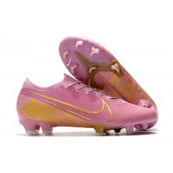 Crampons Nike Mercurial Vapor 13 Elite FG Homme Rose Or