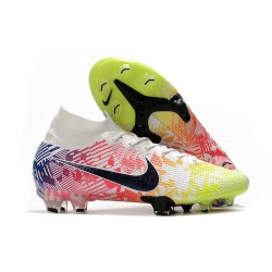Nike Mercurial Superfly 7 Elite Dynamic Fit FG -Neymar Blanc Noir Bleu Volt
