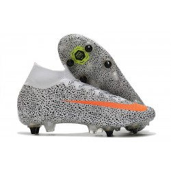 Nike Mercurial Superfly VII Elite DF SG-PRO CR7 Safari-Blanc Orange Noir