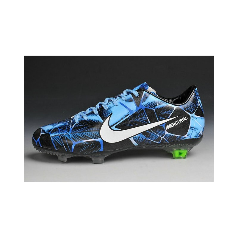 nouvelle chaussures nike mercurial vapor ix fg hommes tropical pack noir blanc bleu. Black Bedroom Furniture Sets. Home Design Ideas