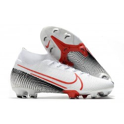 Nike Mercurial Superfly 7 Elite Dynamic Fit FG -Blanc Cramoisi Noir