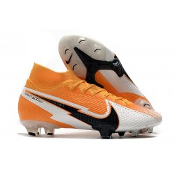 Nike Mercurial Superfly 7 Elite Dynamic Fit FG -Orange Laser Noir Blanc