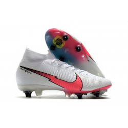 Nike Mercurial Superfly VII Elite DF SG-PRO Blanc Rouge Bleu