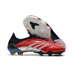 Crampons de foot adidas Predator Archive FG - Noir Rouge Argent