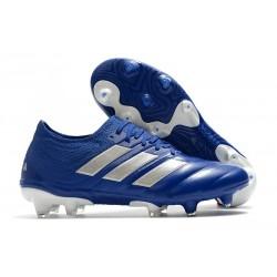 adidas Crampons de Foot Copa 20.1 FG Bleu Royal Argent