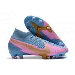 Nike Mercurial Superfly VII Elite FG ACC Bleu Rose Or