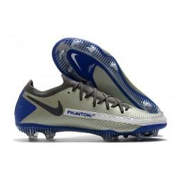 Chaussures Nouvelle Nike Phantom GT Elite FG Gris Noir Bleu