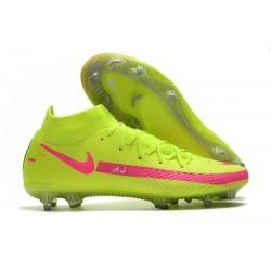 Crampons de Foot Nike Phantom GT Elite DF FG Vert Rose