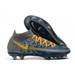 Crampons de Foot Nike Phantom GT Elite DF FG Gris Bleu Jaune