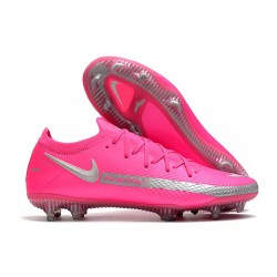 Nike Phantom GT Elite FG Crampon de Football Rose Argent