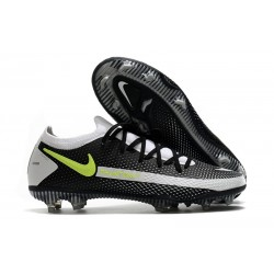 Nike Phantom GT Elite FG Crampon de Football Noir Gris