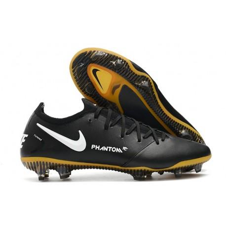Nike Phantom GT Elite Tech Craft FG Crampon de Football Noir Or