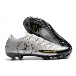 Nike Phantom GT Elite Scorpion FG Crampon de Football Argent Noir