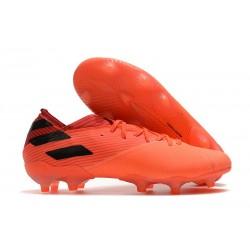 adidas Nemeziz 19.1 FG Chaussures - Corail Noir Rouge Goire