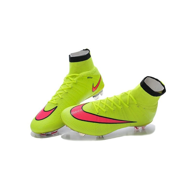 chaussures football mercurial superfly fg pas cher volt hyper rose noir. Black Bedroom Furniture Sets. Home Design Ideas