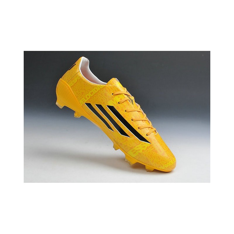 crampons de foot adidas f50 adizero messi trx fg syn terrain sec chaussure homme jaune noir. Black Bedroom Furniture Sets. Home Design Ideas