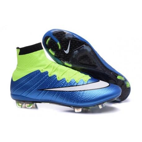 Mercurial Fg Volt Noir Chaussures Cher Superfly Blanc Bleu Pas Football nX8wNk0PO