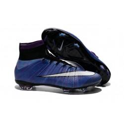 Nouveau 2015 Crampons Nike Mercurial Superfly FG Multicolore Violet Blanc Noir