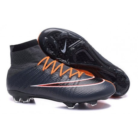 Nouveau 2016 Crampons Nike Mercurial Superfly FG Noir Orange Blanc