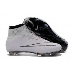 Chaussures football MERCURIAL SUPERFLY FG Pas Cher Noir Blanc