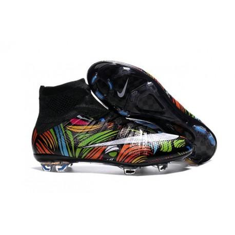 Chaussures football MERCURIAL SUPERFLY FG Pas Cher Noir Blanc Vert Bleu Orange Rose Jaune