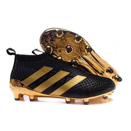 9ed1d7122c5 Nouvelles Chaussures de Football Adidas Ace16+ Purecontrol FG AG Paul Pogba  Or Noir