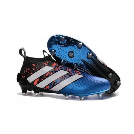 Nouvelles Chaussures de Football Adidas Ace16+ Purecontrol FGAG Paris Pack Bleu Rouge Noir Blanc