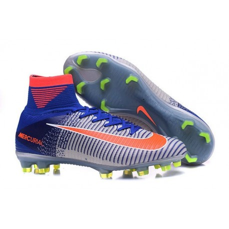 Orange Pas Mercurial 2016 Rio Superfly Fg Nike Blanc V Football Bleu Cher Chaussures gbY6vf7y