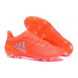 2016 Nouveau Adidas X 16.1 FG/AG - Chaussures de Foot Orange Argent